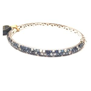 Effy Sterling Silver Round Blue Sapphire Bangle